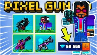 I BOUGHT ALL THE KEANU REEVES DIGITAL HERO EVENT SET WEAPONS! | Pixel Gun 3D