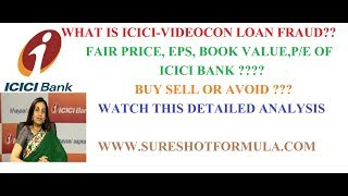ICICI BANK DETAILED(F+T) ANALYSIS:: ICICI-VIDEOCON LOAN FRAUD AND ITS IMPACT ON STOCK PRICE