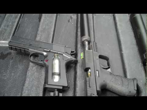 Walther P22Q with Silencer VS BB GUN - YouTube