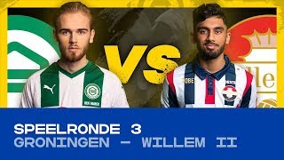 EDIVISIE | Speelronde 3: FC Groningen - Willem II