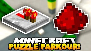Minecraft PUZZLE PARKOUR 2! (Secret Buttons & Levers!) w/PrestonPlayz & PeteZahHutt
