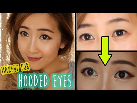 Makeup techniques for hooded eyes