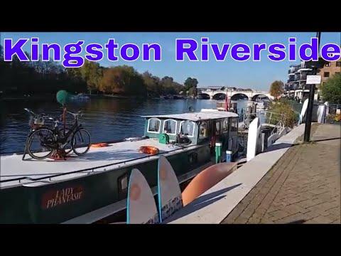 Walking In London: London walk along the Thames at Kingston Riverside