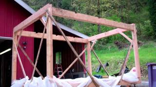 Trees To Timber Frame Cabin Off-grid Homestead Project Frame