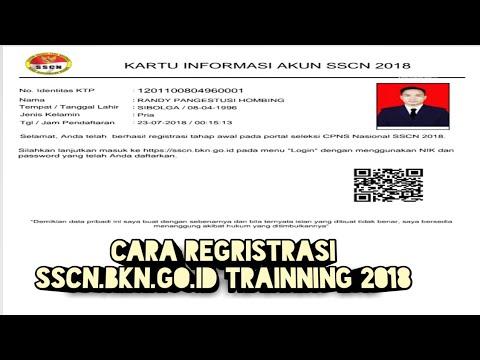 Cara Daftar SSCN.BKN.GO.ID TRAINNING 2018 ( SIMULASI