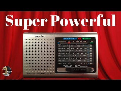 SuperSonic SC-1080BT AM FM Shortwave BT & MP3 Radio Unboxing & Review