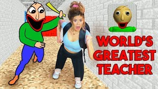 My New School Is DANGEROUS For Kids... Baldi's Basics FULL GAME