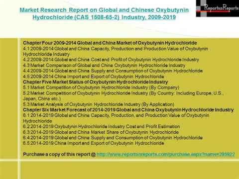 Global and Chinese Oxybutynin Hydrochloride Industry Forecast to 2019