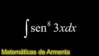 integral de potencias de senos y cosenos ejemplo 9