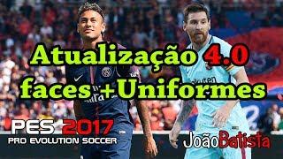Atualização Pes 2017 4.0 transferência de jogadores mais uniformes e faces  15/09/2017