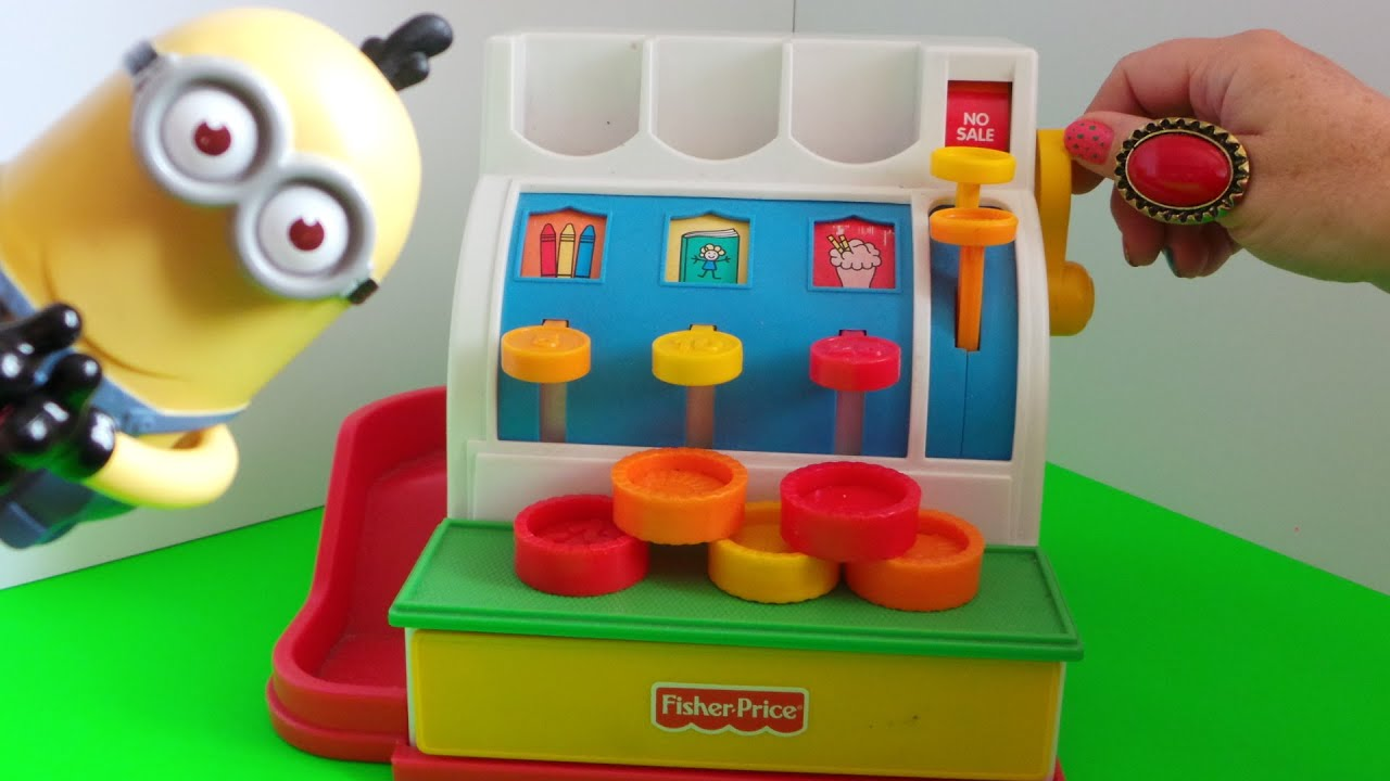 Playing with My Old Fisher Price Toy Cash Register