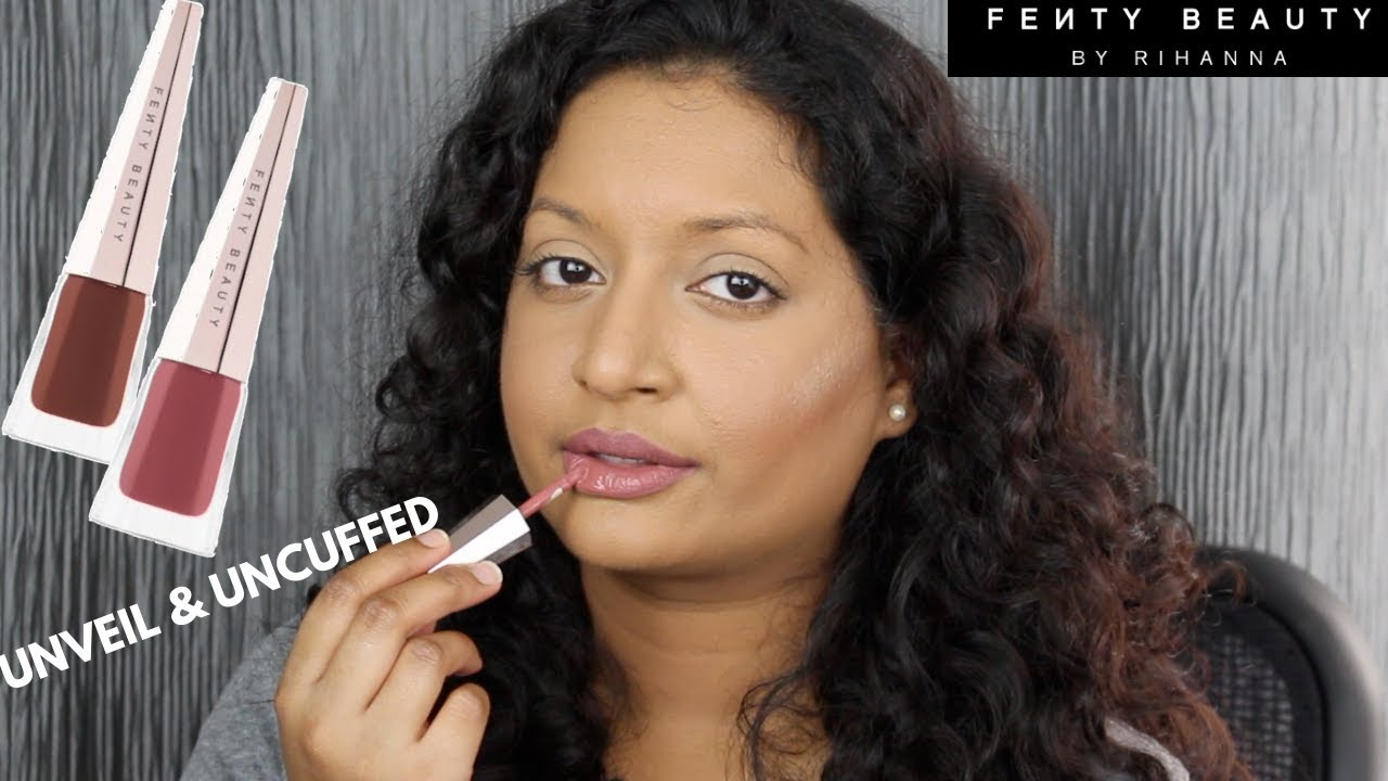 be1edbff24d75 Fenty Beauty Stunna Lip Paint Uncuffed and Unveil Swatches