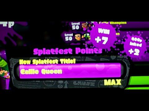 Splatoon Splatfest! (Callie VS Marie) #2: INSANE winning streak to queen!
