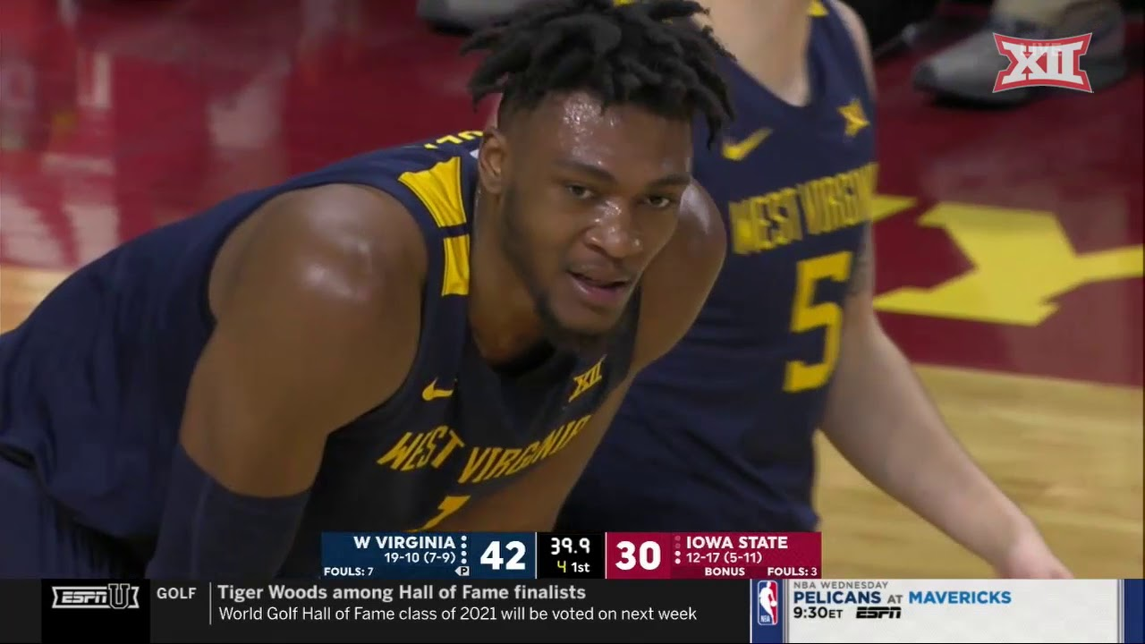 West Virginia at Iowa State Men's Basketball Highlights ...