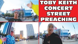 """""""Conservative Americans"""" HATE The Gospel Preaching at Toby Keith Concert 