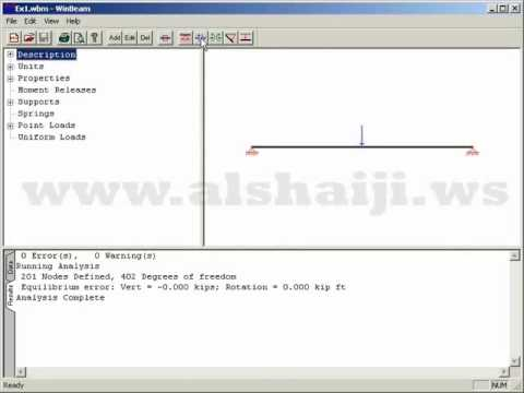 Video 2a - Winbeam Overview (Solved Example) (Arabic)