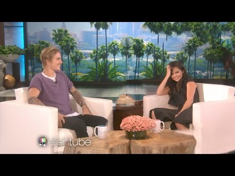 Justin Bieber And Selena Gomez on Ellen 2017