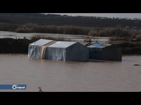 سيول جارفة تغرق مخيمات النازحين شمال حلب - سوريا  - 15:53-2019 / 1 / 11