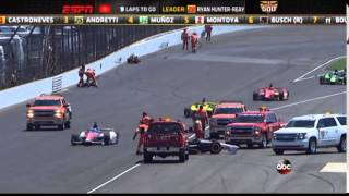 2014 Indianapolis 500 - Townsend Bell crash