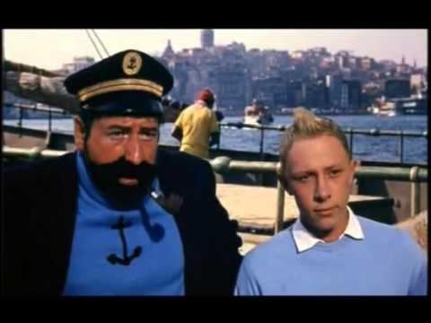Bir bölümü İstanbul'da çekilen 1961 yapımı Tenten ve Altın Post filminin ilk 20 dakikası