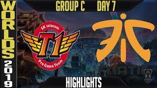 SKT vs FNC Highlights Game 2 | S9 Worlds 2019 Group C Day 7 | SK Telecom T1 vs Fnatic