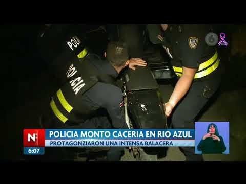 Policía montó enorme operativo en Río Azul