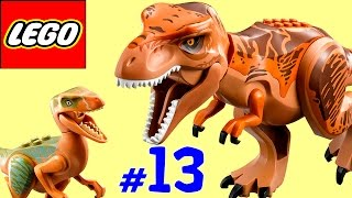 ?? ЛЕГО мультик ИГРА про динозавров Парк юрского периода [13] Тираннозавр против велоцирапторов