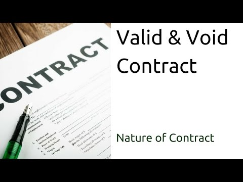 What Valid & Void Contract | Nature of Contract | Types of Contract | CA CPT | CS & CMA Foundation