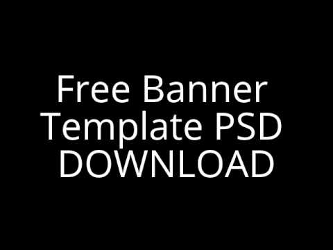 free yt banner template psd youtube. Black Bedroom Furniture Sets. Home Design Ideas