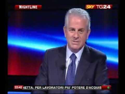 Il Ministro Claudio Scajola a Nightline su Skytg24 ospite di Maria Latella  1/2