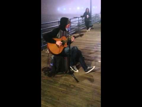 Santa Monica California Pier  Beatboxer Guitarist- Zach Andrew