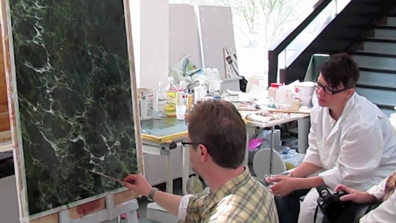 Decorative Painting Michel Nadai Teaching Sea Green