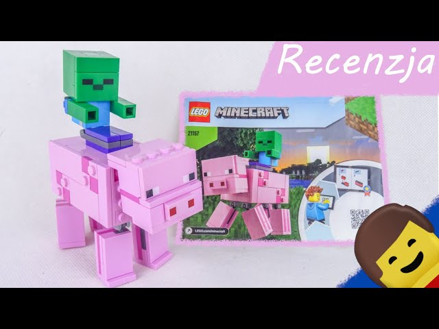 LEGO MINECRAFT 21157 BigFig  Świnka i mały zombie / RECENZJA