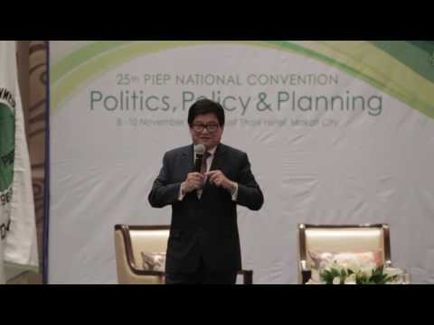 PIEP's 25th National Convention Speaker 5: Ar.EnP.  Felino Palafox, Jr.