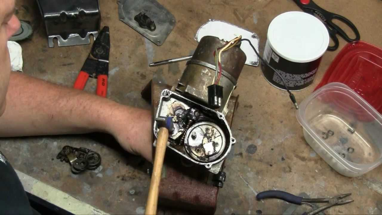 small resolution of episode 68 1965 1966 mustang wiper motor testing restoration making your own gaskets autorestomod youtube