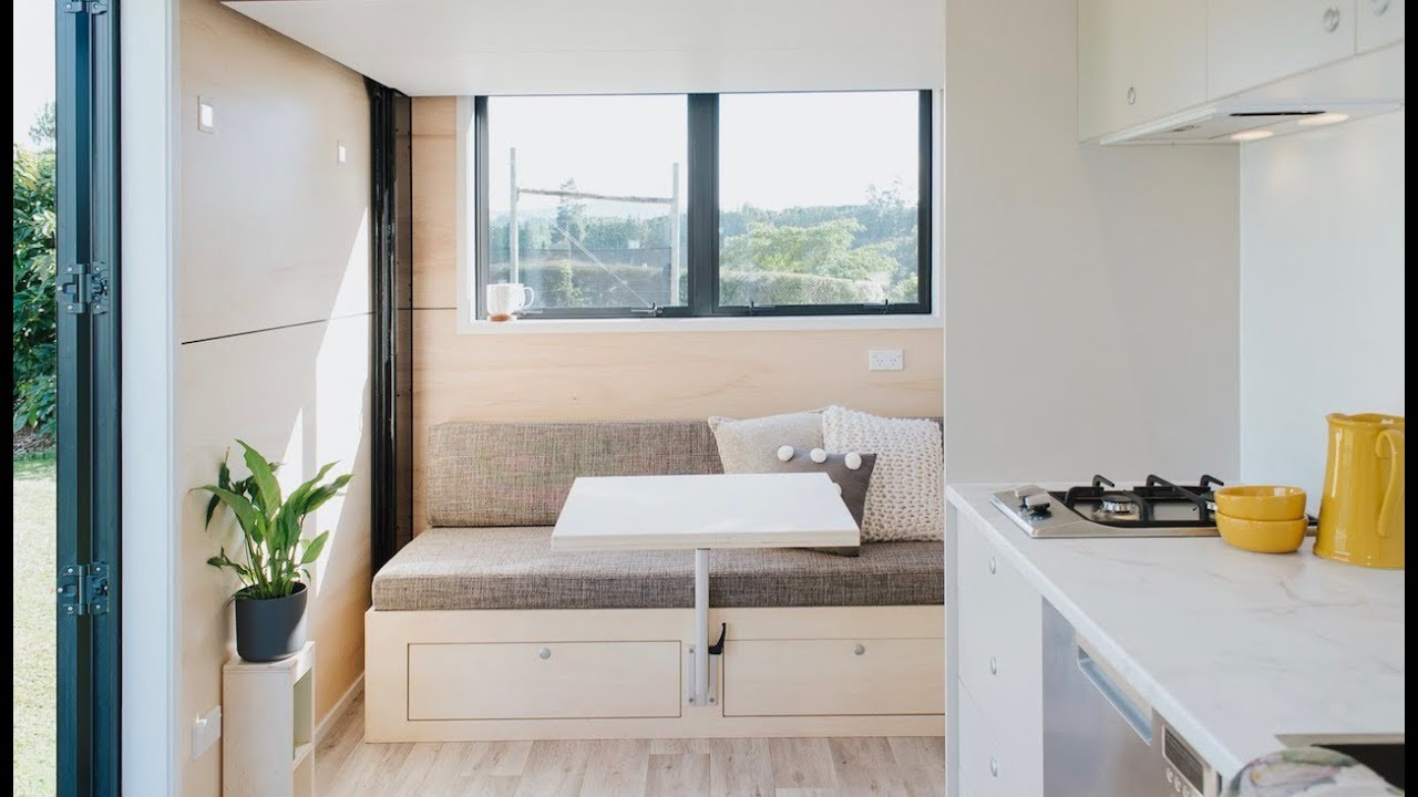 Minimalist Tiny House Is Only 15 Long Retractable Bed