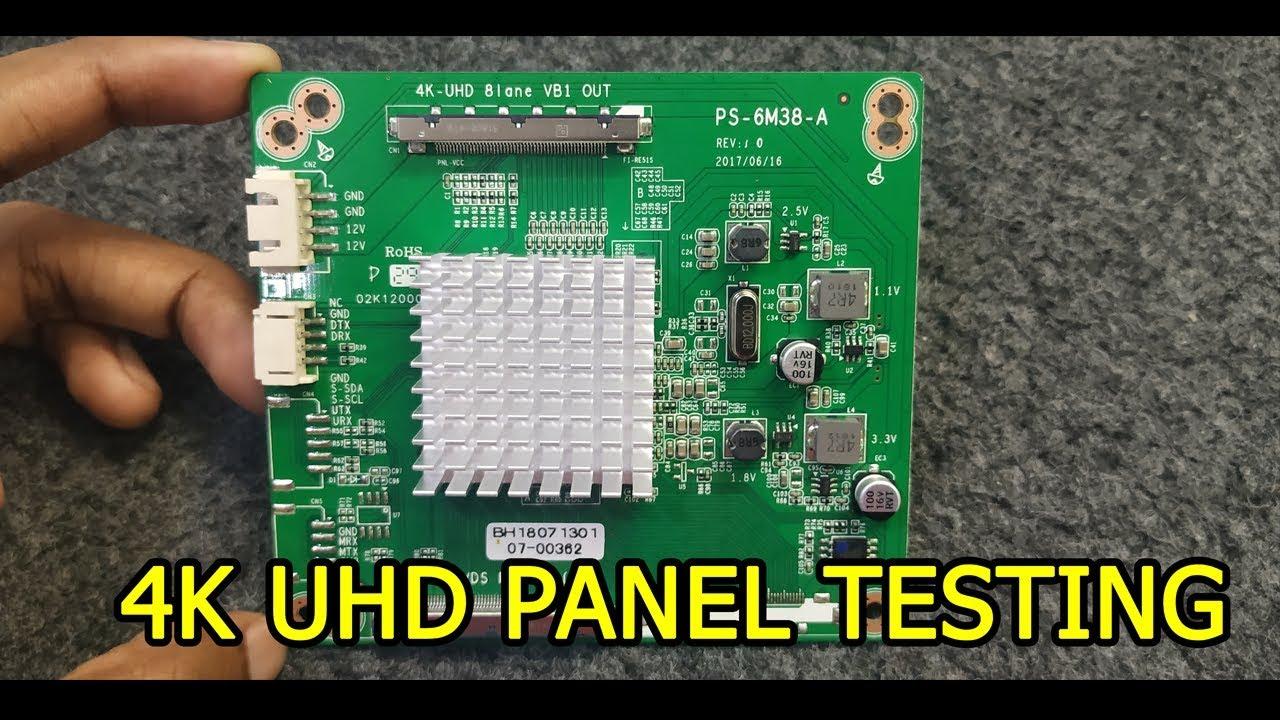 4K UHD PANEL HOW TO TESTING EXPLAIN HINDI TUTORIAL #4K_UHD_PANEL_TEST