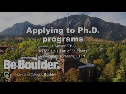 Prospective PhD Student Webinar | 11.14.18 | CU Boulder School of Education