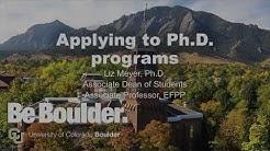 Prospective PhD Student Webinar | 11.14.18 | CU Boulder School of Education