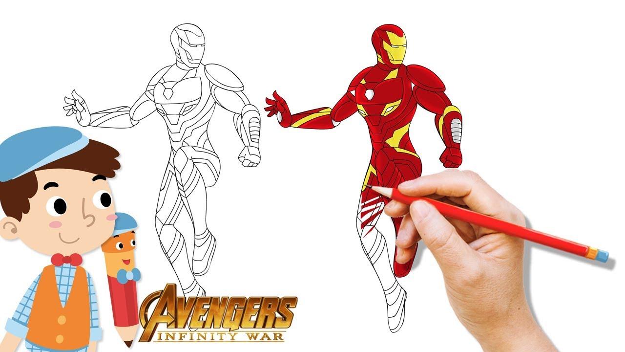 Mewarnai Ironman How To Coloring Ironman New Costume Avengers