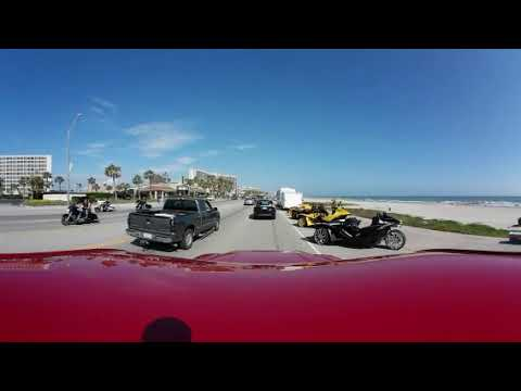 Motorcycle Saturday at Galveston Texas in 360