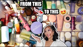 Download lagu HUGE SKINCARE DECLUTTER | Clean & Organise with me |  Ling KT