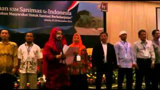 Deklarasi KSM/KPP Sanimas se Indonesia 2014