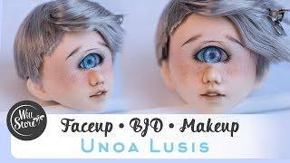[ BJD ] Роспись куклы циклоп Unoa Lusis ООАК мейкап / фейсап [БЖД] урок от WillStore