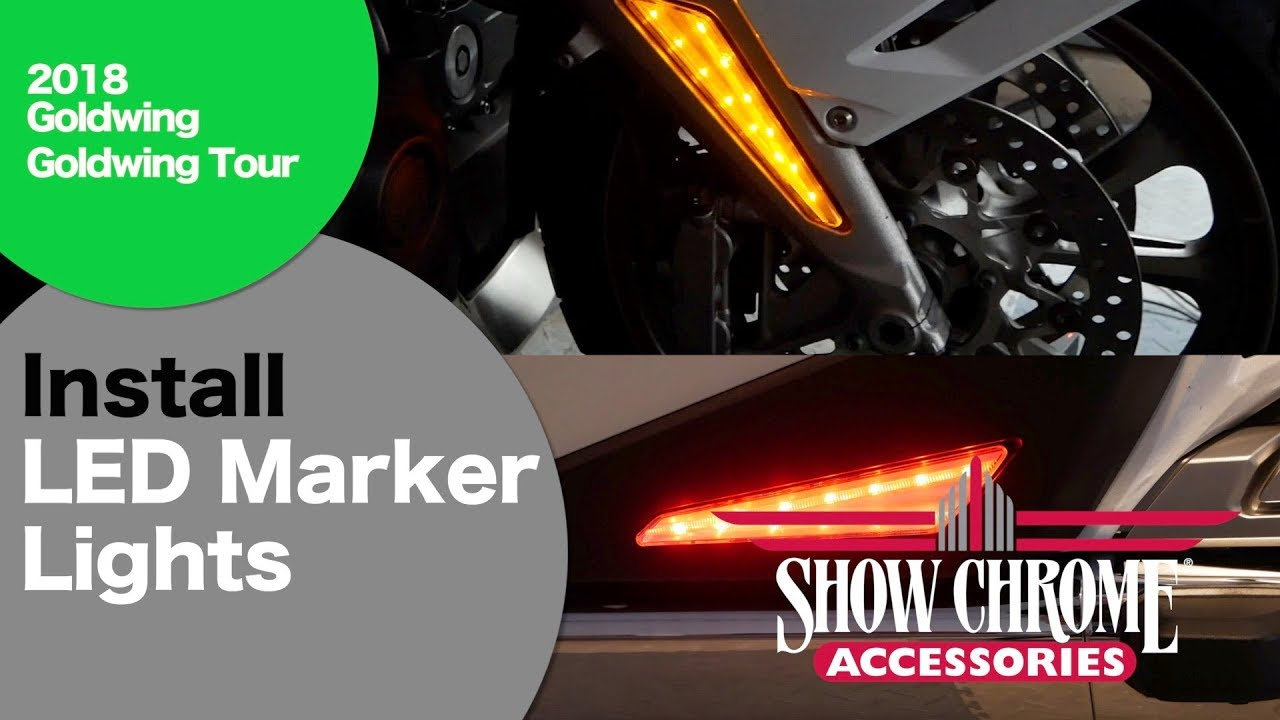 Install Show Chrome LED Marker Lights on 2018 Goldwing
