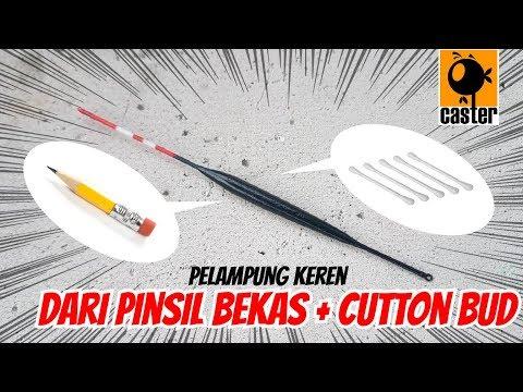 DIY Pelampung / Kumbul Mujair dan Ikan Kecil dari Pensil TipsnTrik#7