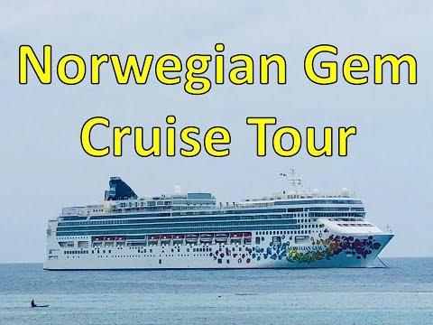 Norwegian Gem FULL SHIP TOUR -- Departure from Manhattan Cruise Terminal