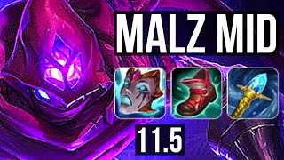 MALZAHAR vs YASUO (MID)   3.5M mastery, 10/1/8, 1500+ games, Legendary   BR Diamond   v11.5