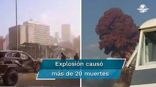 La explosión se sintió a 240 kilómetros de distancia, en la isla de Chipre, de acuerdo con el Centro Sismológico de Europa-Mediterráneo; se habla de más de 2 mil 500 heridos y arriba de los 20 muertos