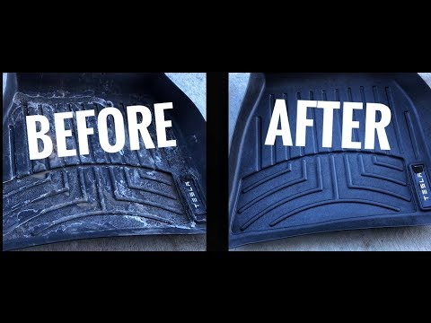 Clean and DRESS rubber floor mats with ONE product!
